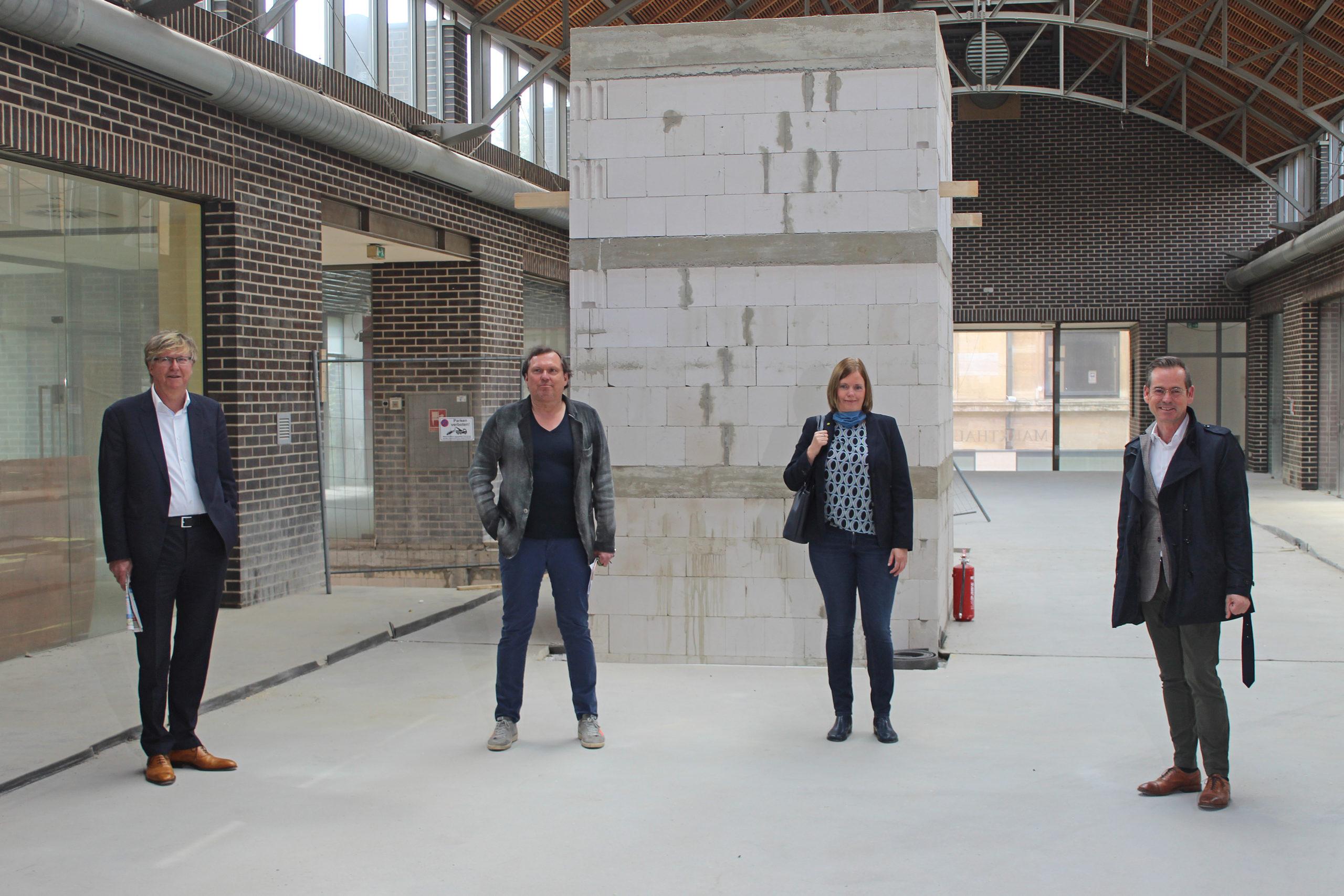 Markthalle in Buer vor der Eröffnung