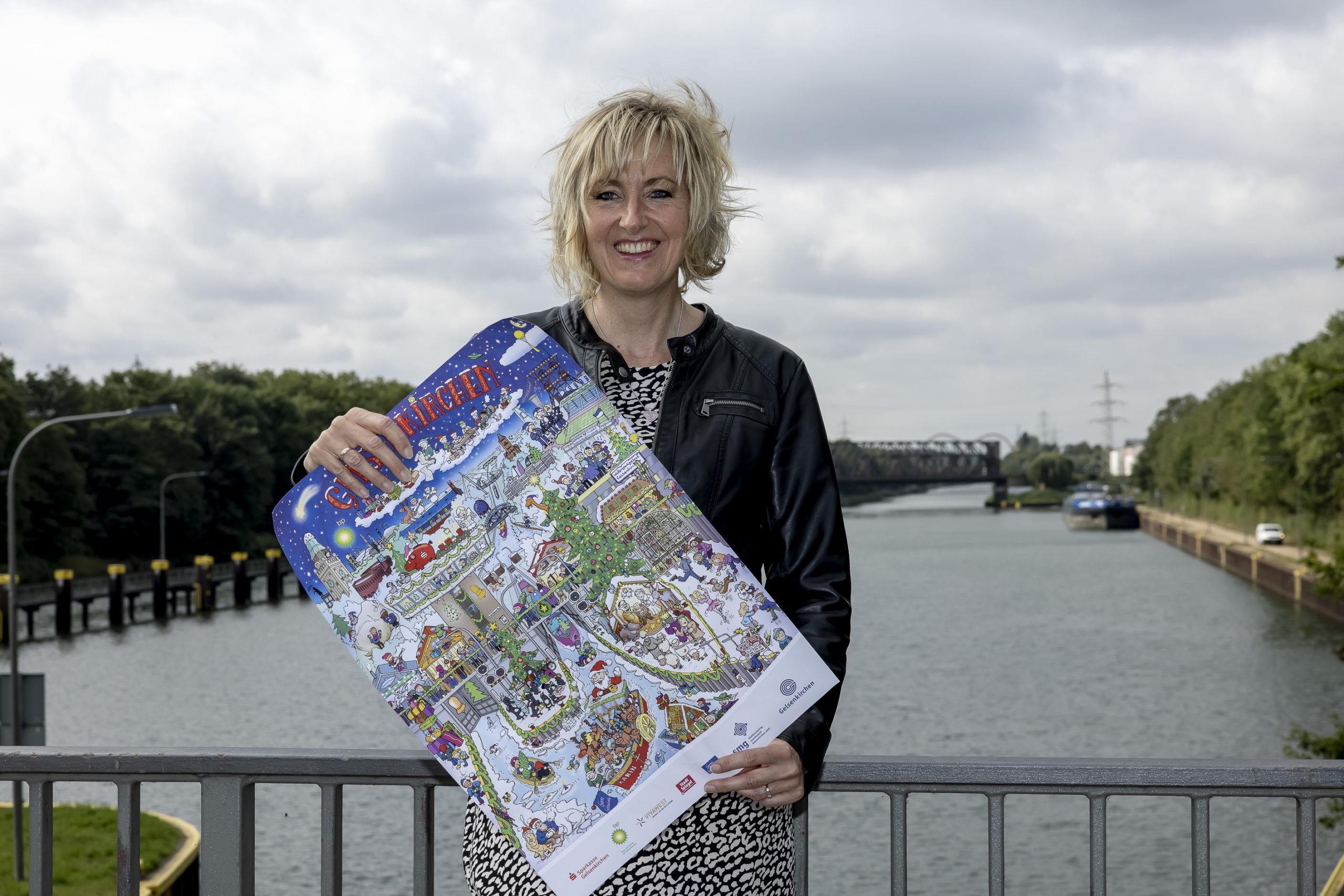 Ab 12. Oktober ist der Gelsenkirchener Adventskalenders 2021 erhältlich. Die siebte Auflage zeigt die Schleuse und den Rhein-Herne-Kanal.